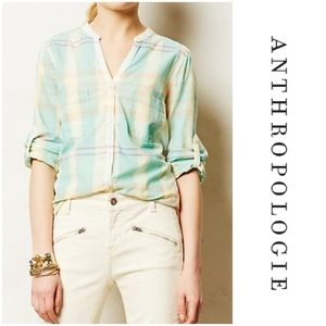 Anthropologie Holding Horses Tiby Sunchecked Shirt